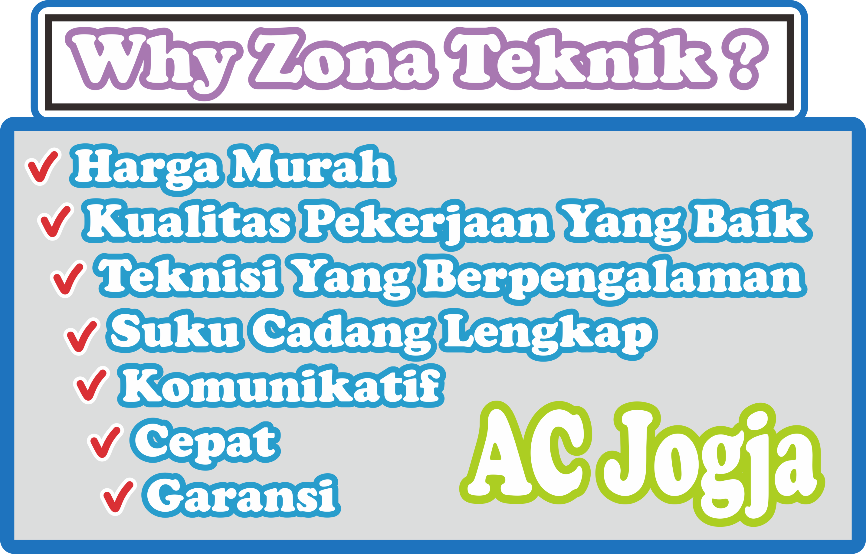 Why Zona Teknik Bengkel AC Jogja